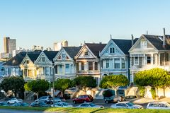 Painted Ladies from the sitcom Full House stock photography