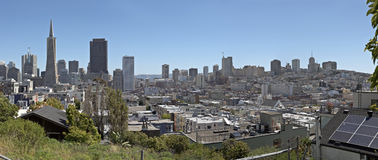 San Francisco California panorama architecture and neighborhood. Stock Photos