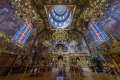 Free San Francisco, California - September 16, 2018: Interior Of The Holy Virgin Cathedral. Royalty Free Stock Images - 126594839