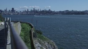 San Francisco, California skyline in early spring stock video