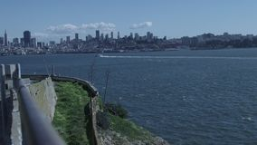 San Francisco, California skyline in early spring stock footage