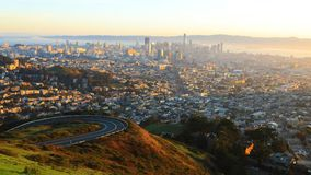 San Francisco, California skyline at sunrise Royalty Free Stock Photos