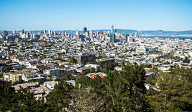 San francisco california skyline and surroundings from corona he Stock Image