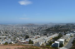 San Francisco California. From Twin Peaks Royalty Free Stock Photo