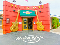 San Francisco, California, United States of America - May 04, 2016: The Hard Rock Cafe at Pier 39 fisherman's wharf Royalty Free Stock Photos