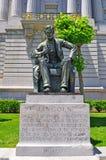 San Francisco, public monument, Abraham Lincoln , statue, president, California, United States of America, Usa, fatherland royalty free stock image