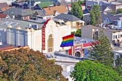 San Francisco, California, United States of America, Usa. Castro skyline with the Castro Theatre on June 5, 2010. The Castro Theatre, built in 1922, is a popular stock photo