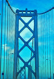 San Francisco, Bay Bridge, details, architecture, California, United States of America, Usa stock photos