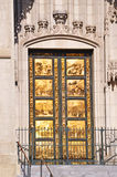 San Francisco, California, United States of America, Usa. The Ghiberti doors of Grace Cathedral on June 7, 2010. The Ghiberti doors, the entrance of the royalty free stock photography