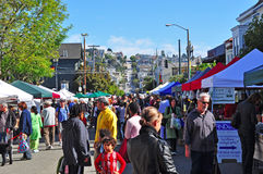 San Francisco, California, United States of America, Usa. A market in Castro on June 15, 2010. Castro, one of the first gay neighborhoods in Usa, is the most Royalty Free Stock Photo