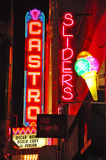 San Francisco, California, United States of America, Usa. Neon signs in Castro on June 15, 2010. Castro is one of the first gay neighborhoods in Usa. The rainbow Royalty Free Stock Images