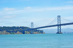San Francisco, Bay Bridge, Pacific Ocean, architecture, California, United States of America, Usa. Panoramic view of Bay Bridge on 7 June 2010. The San Francisco Stock Photo