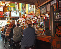 San Francisco, California, United States of America, Usa. Regulars at the counter of Vesuvio Cafe on June 12, 2010. The 1948 Vesuvio Cafe is a historic bar Stock Photo
