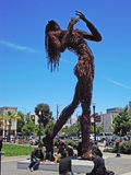 San Francisco, California, United States of America, Usa. The sculpture Ecstasy on June 10, 2010. Ecstasy by Dan Das Mann and Karen Cusolito, made from salvaged Royalty Free Stock Image