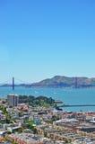 San Francisco, California, United States of America, Usa. Skyline with Golden gate Bridge on June 6, 2010. The Golden Gate Bridge opened in 1936 Stock Photo