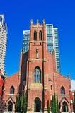 San Francisco, St. Patrick`s Church, catholicism, brick, cross, California, United States of America, Usa. St. Patrick`s Church on June 13, 2010. St. Patrick`s Stock Image