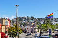 San Francisco, California, United States of America, Usa. View of Castro on June 15, 2010. Castro, one of the first gay neighborhoods in Usa, is the most Royalty Free Stock Photography