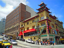 San Francisco, California, United States of America, Usa. View of Chinatown on June 15, 2010. The Chinatown neighborhood, established since 1848, is the oldest royalty free stock photo