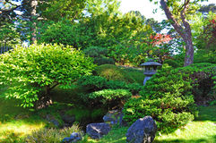 San Francisco, Japanese Tea Garden, Golden Gate Park, green, nature, landscape, California, United States of America, Usa, trees. View of the Japanese Tea Garden Stock Photography