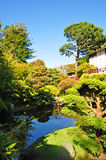 San Francisco, Japanese Tea Garden, Golden Gate Park, pond, green, nature, landscape, California, United States of America, Usa. View of the Japanese Tea Garden Stock Image