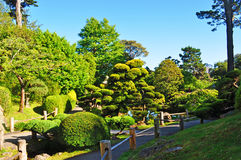 San Francisco, Japanese Tea Garden, Golden Gate Park, green, nature, landscape, California, United States of America, Usa. View of the Japanese Tea Garden on Royalty Free Stock Photography