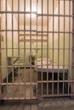 San Francisco, California, United States - April 30, 2017: Prisoner`s cell of Alcatraz prison in Alcatraz Island. Royalty Free Stock Photos