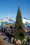 SAN FRANCISCO, CALIFORNIA, UNITED STATES - NOV 25th, 2018: Fisherman`s Wharf and Pier 39 area around Christmas and new royalty free stock photos