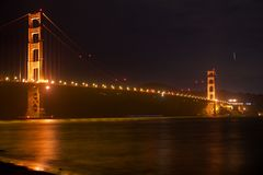SAN FRANCISCO, CALIFORNIA, UNITED STATES - NOV 25th, 2018: Golden Gate Bridge as seen from Fort Point overlook is royalty free stock photos
