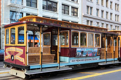 SAN FRANCISCO, CALIFORNIA/USA - AUGUST 6 : Cablecar in San Franc Stock Images