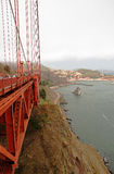 San Francisco,California - USA,August 2016:View of the side of the Golden gate Bridge in San francisco,August 2016 Stock Images