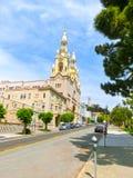 San Francisco, California, USA - May 04, 2016: The view of bildings at downtown Royalty Free Stock Images