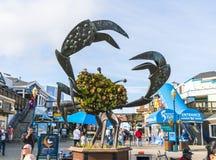 San Francisco, California, usa, 2016/04/20: Molo 39, rybaka ` s wr Obraz Stock