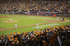 San Francisco, California, USA, October 16, 2014, AT&T Park, baseball stadium, SF Giants versus St. Louis Cardinals, National Leag Royalty Free Stock Images