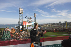 San Francisco, California, USA, October 16, 2014, AT&T Park, baseball stadium, SF Giants versus St. Louis Cardinals, National Leag. San Francisco, California Stock Images