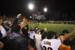 San Francisco, California, USA, October 16, 2014, AT&T Park, baseball stadium, SF Giants versus St. Louis Cardinals, National Leag Stock Photography