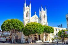 Saints Peter and Paul Church in San Francisco stock photo