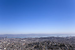 San Francisco, California, USA, from Twin Peaks Stock Images