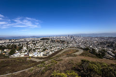 San Francisco, California, USA, from Twin Peaks Stock Photo