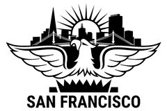 San Francisco. California. Welcome to USA symbol Royalty Free Stock Image