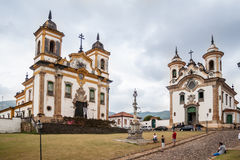 San Francisco and Carmo Churches Mariana Brazil Royalty Free Stock Photos