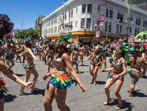 2014 San Francisco Carnaval Grand Parade Stock Afbeeldingen