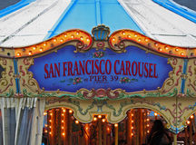 San Francisco Carousel Pier 39 Fotografia de Stock