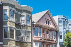 San Francisco, casas fotografia de stock royalty free