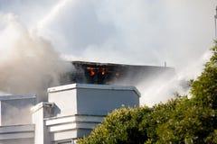 San Francisco - casas no incêndio Foto de Stock