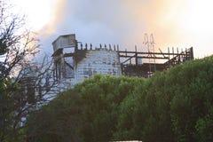 San Francisco - casas no incêndio Foto de Stock Royalty Free