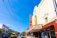 San Francisco Castro Street Area Theater Shops H Stock Image