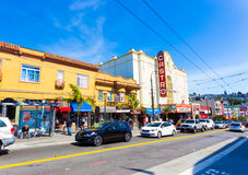 San Francisco Castro Street Shops Theater Royalty Free Stock Image