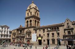 San Francisco Cathedral in La Paz, Bolivië Royalty-vrije Stock Foto's
