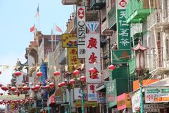 San Francisco Chinatown Fotografie Stock