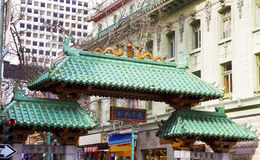 San Francisco Chinatown Gate Arkivbild